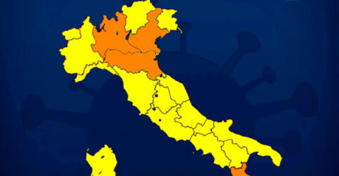 Italia divisa dai colori 10 gennaio 2021-2